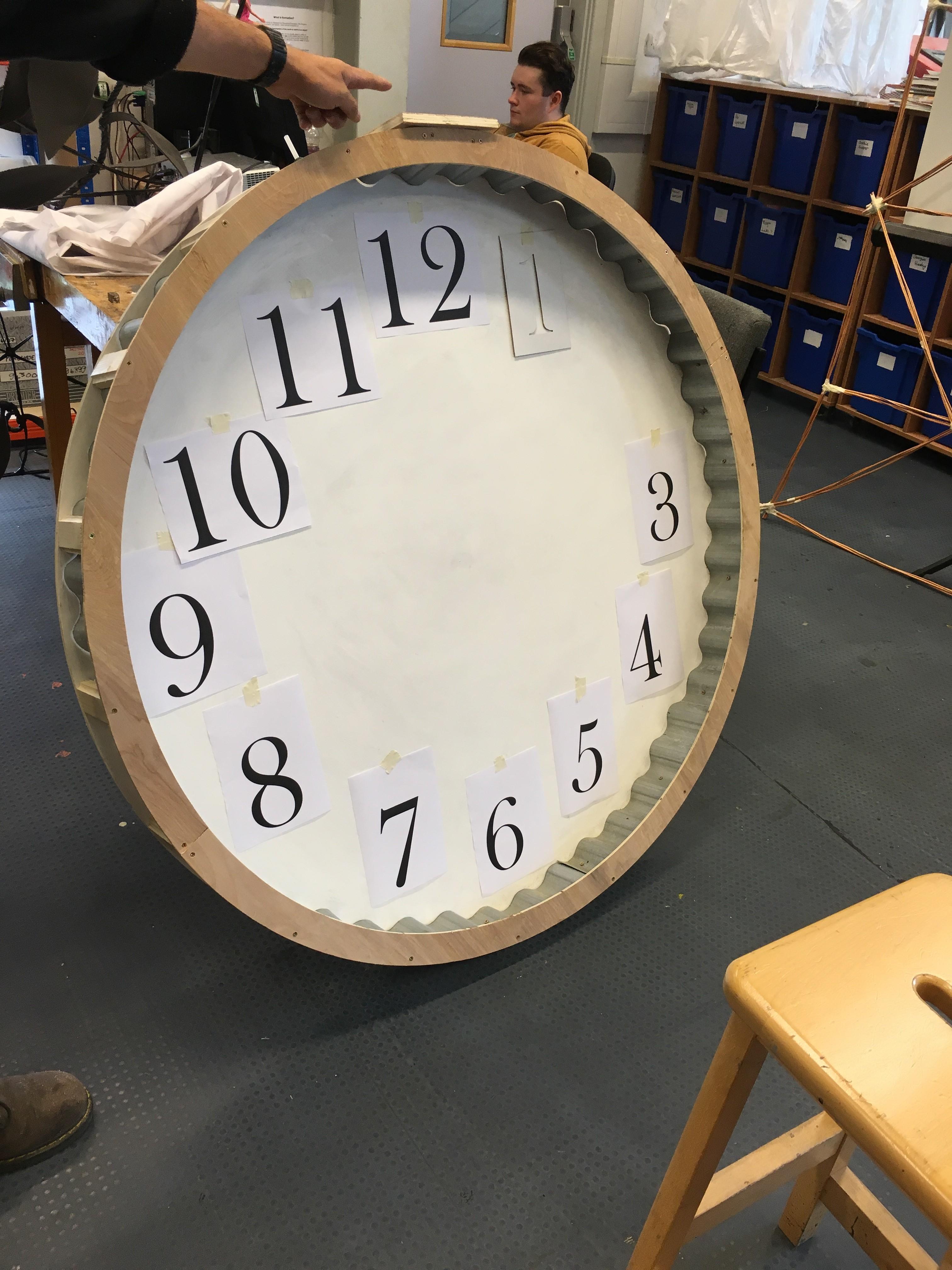Clock Face Stenciling